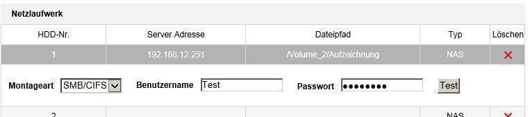 Hikvision IP Kamera in NAS oder FTP Server einbinden