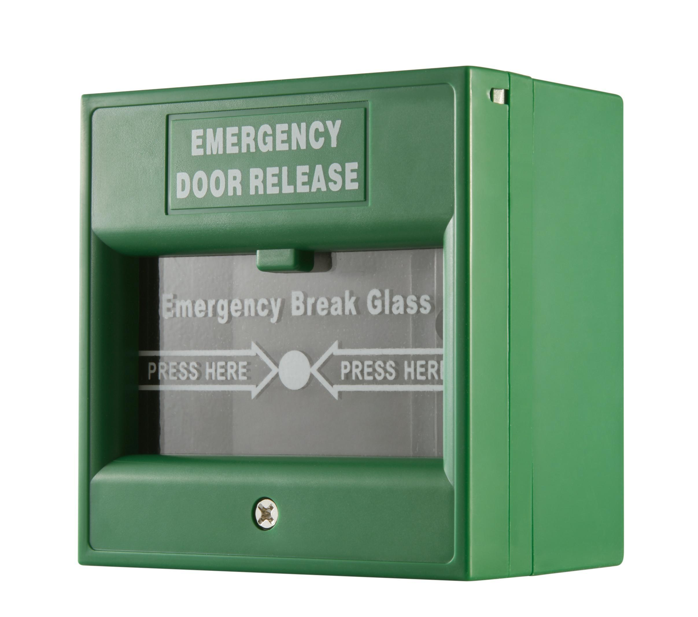 Hikvision DS-K7PEB Emergency Break Glass Grün