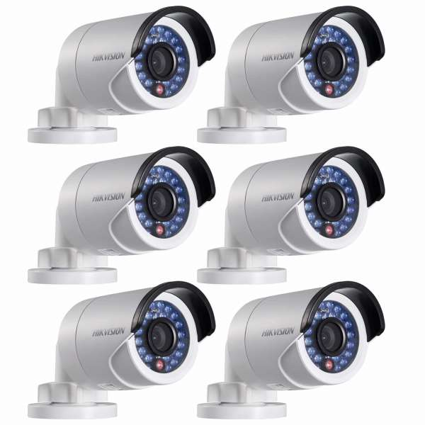6x Hikvision DS-2CD2022WD-I(4mm) 2 MP Bullet Kameraset